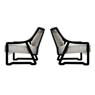 Paul Laszlo Attributed Lounge Chairs For Sale