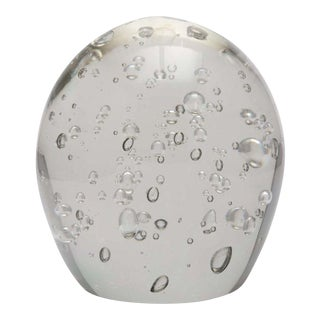 Kaiser Krystal Bubbled Glass Egg For Sale