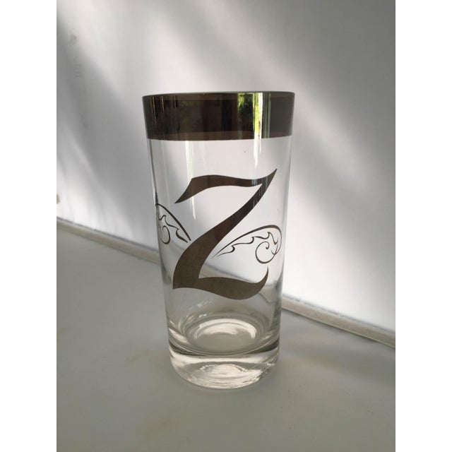 "Dorothy Thorpe Mid-Century ""Dorothy Thorpe"" Z High Ball Glasses - Set of 8 For Sale - Image 4 of 6"