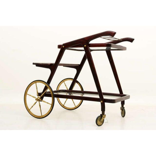 1940s Mid-Century Modern Italian Cesare Lacca Service Cart For Sale - Image 5 of 9