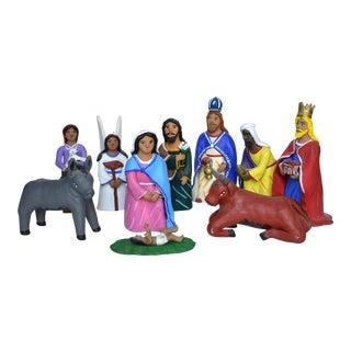 Jesus Aguilar Ceramic Nativity For Sale