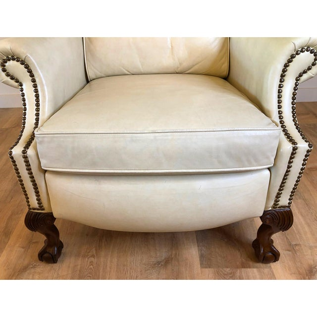 Vintage Bradington Young Leather Wingback Recliner For Sale - Image 11 of 13