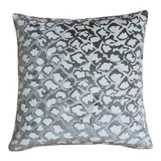 """Piper Collection Animal Print Velvet Quaker """"Kendrick"""" Pillow For Sale"""