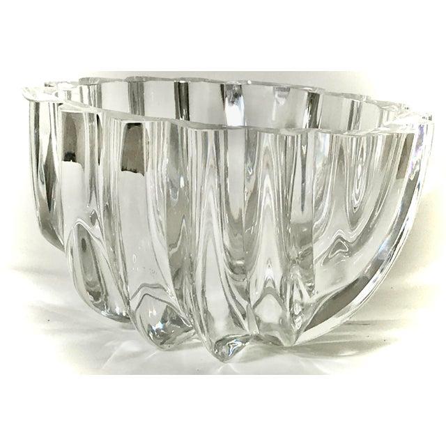 Orrefors 1970s Orrefors Swedish Signed Crystal Isabella Bowl For Sale - Image 4 of 12