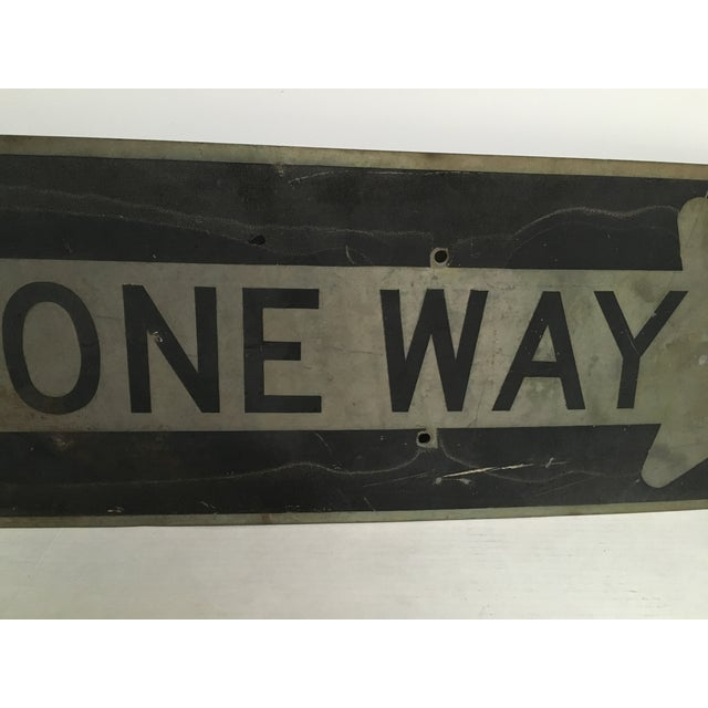 Vintage 'One Way' Arrow Road Sign - Image 3 of 5