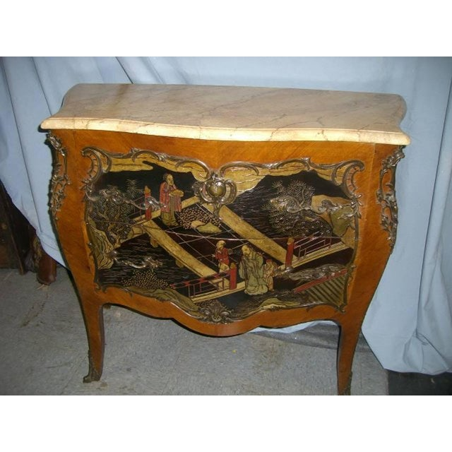 Mid 19th Century Louis XV Style Chinoiserie Coromandel Commode, 19th Century For Sale - Image 5 of 9