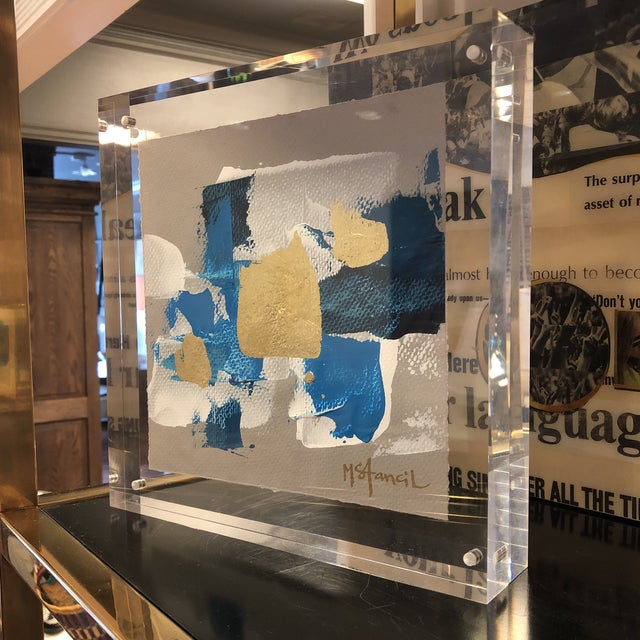 Original Art Floating in Lucite For Sale - Image 11 of 13