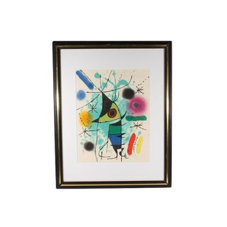"1972 Vintage Joan Miró ""The Singing Fish"" Color Lithograph Print For Sale"