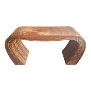Pencil Reed Bamboo Scroll Ming Console Sofa Table