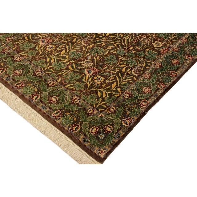 Asian Imran Pak-Persian Mellisa Brown/Green Wool Rug - 4'0 X 6'4 For Sale - Image 3 of 8