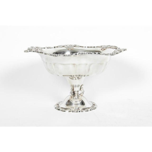 Vintage Silver Plate Fruit Bowl Piece For Sale - Image 9 of 13