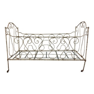 Antique Iron Crib For Sale