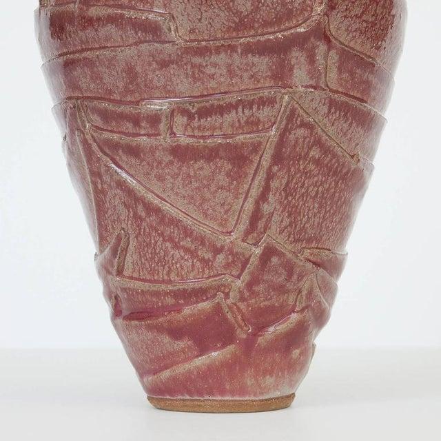 Ceramic Layered Geometric Studio Pottery Vase For Sale - Image 7 of 10