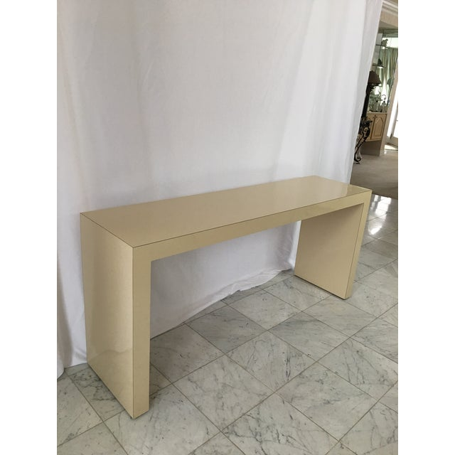 1970s 1970's Minimalist Parsons Sofa Table For Sale - Image 5 of 8