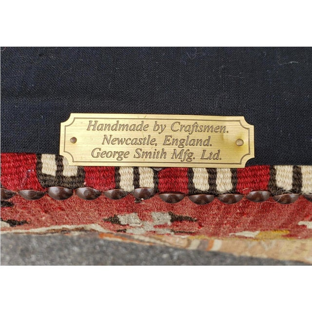 English George Smith Ltd Signature Stool Kilim Ottomans - a Pair For Sale - Image 3 of 7
