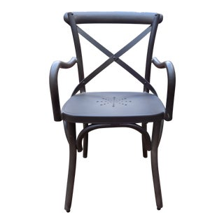 Restoration Hardware Metal 'Madeleine' Bistro Arm Chair For Sale