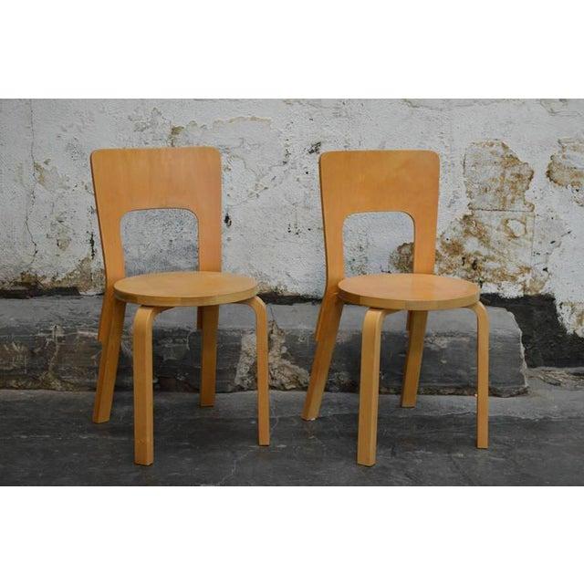 Pair of Vintage No. 66 Alvar Aalto Chairs for Artek For Sale In Atlanta - Image 6 of 8