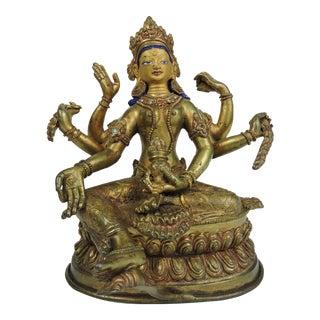 Mid 20th Century Tibetan Buddhism Bronze Statue For Sale