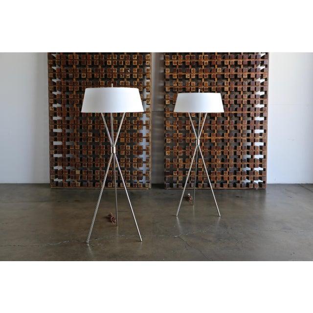 "t.h. Robsjohn Gibbings ""Tripod"" Floor Lamps - a Pair For Sale - Image 13 of 13"