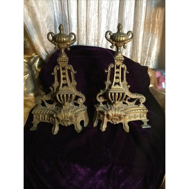 Antique Andiron Set - Image 2 of 5