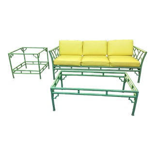 1970s Vintage Meadowcraft Sofa & Tables- 3 Pieces For Sale