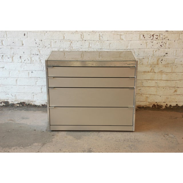 Guy Barker for Ello Mid-Century Mirrored Chest of Drawers - Image 2 of 9
