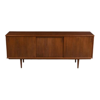 1960's Danish Modern Teak Credenza For Sale