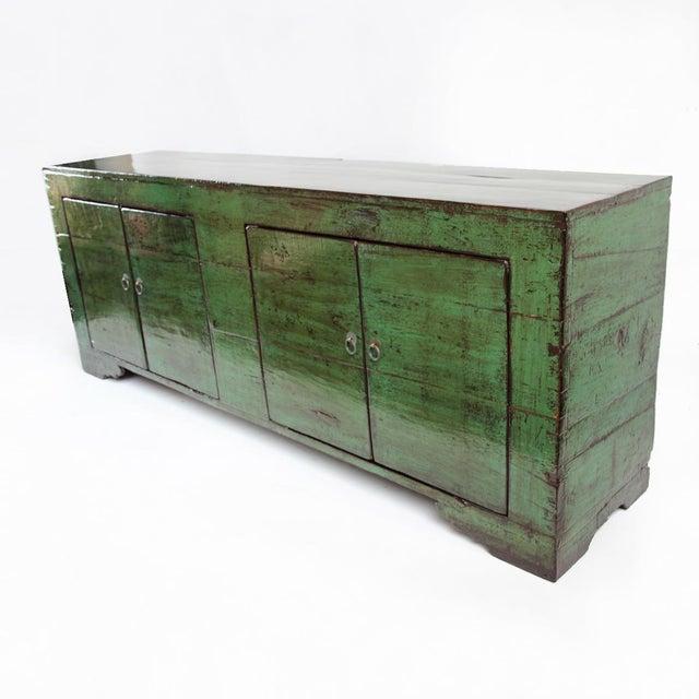 Emerald Green Mongolian Sideboard - Image 3 of 4