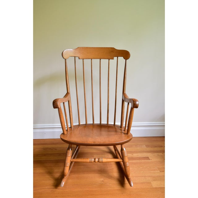 1960s 1960s Vintage Nichols & Stone Co. Boston Style Rocking Chair For Sale - Image 5 of 8