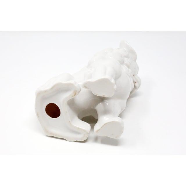 Vintage Blanc De Chine Foo Dog Figurine For Sale - Image 9 of 12