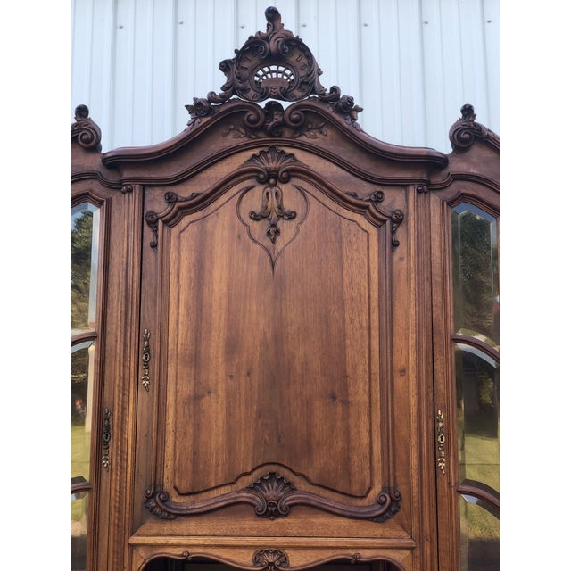Brown Haentges Fres of Paris Walnut Hutch For Sale - Image 8 of 13