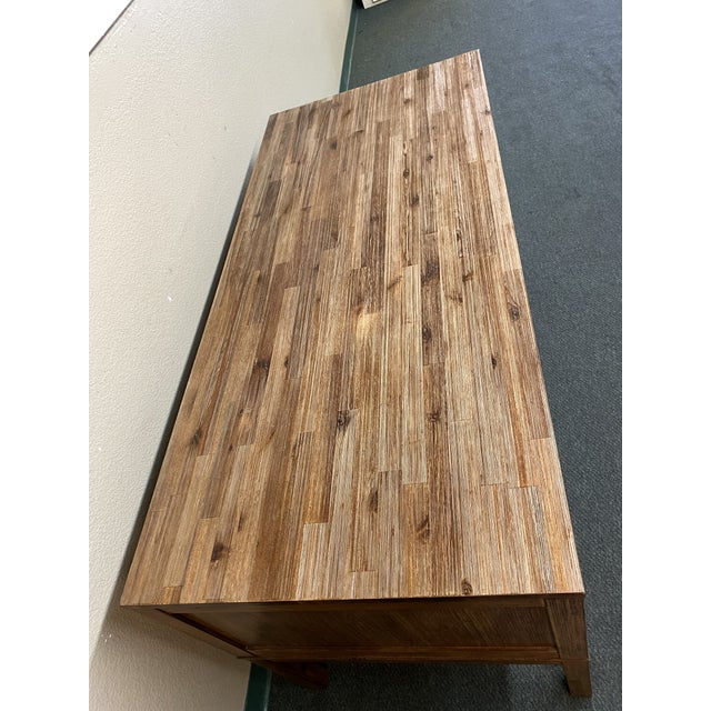 Contemporary Reclaimed Wood Champagne Desk For Sale - Image 3 of 10