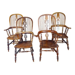 Windsor Chairs -19th Century Beautiful Bow Backs-Set of 4 For Sale
