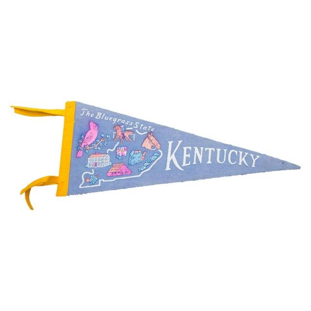 Vintage Kentucky the Bluegrass State Felt Flag - Image 1 of 2