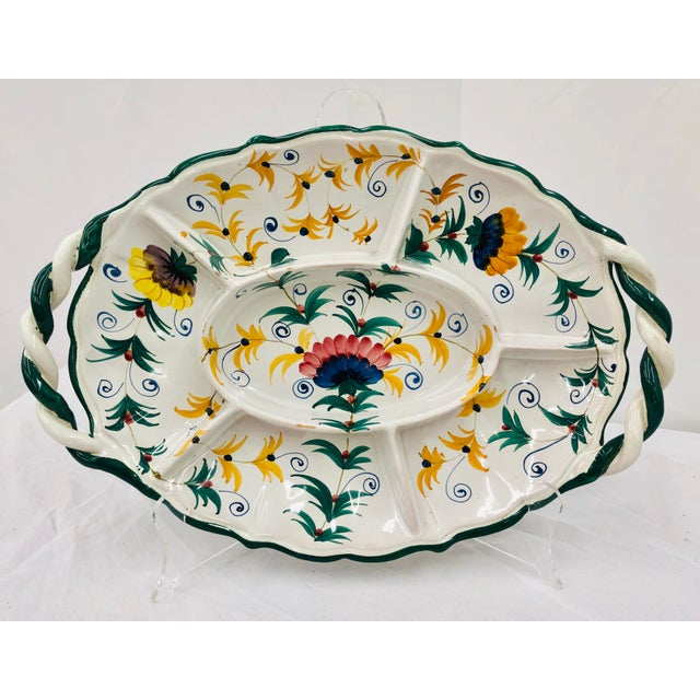 Vintage Hand Crafted Italian Ceramic Serving Platter For Sale - Image 13 of 13