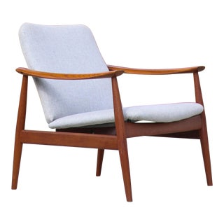 1950s Mid-Century Modern Finn Juhl Model Fd 138 Lounge Chair For Sale