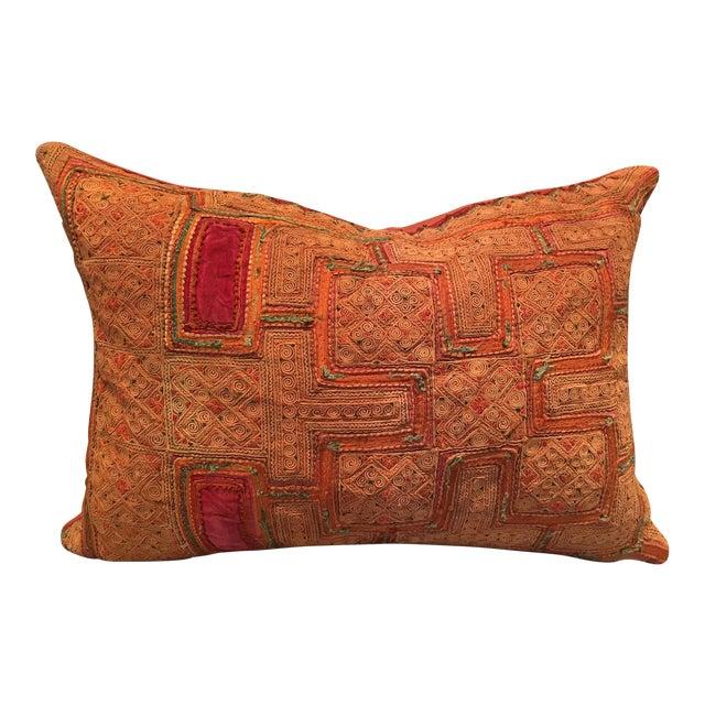 Vintage Thai Applique Pillow - Image 1 of 5