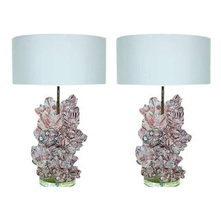 Barnacle Table Lamps by Swank Lighting For Sale