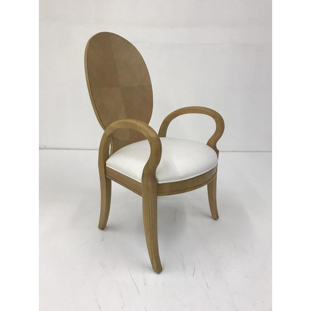 Century Furniture Century Furniture Oak Dining Arm Chair For Sale - Image 4 of 4