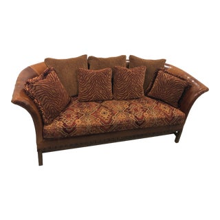 Vintage Wesley Hall Classic Leather Sofa For Sale