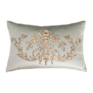 B. Viz Design Antique Empire Textile Pillow For Sale