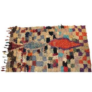 """Vintage Boucherouite Moroccan Carpet - 6'5"""" X 4''"""
