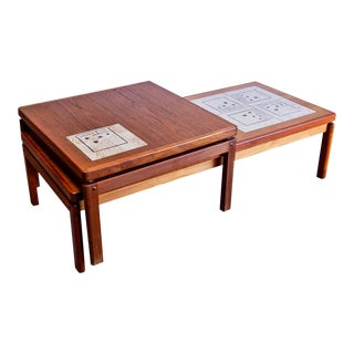 h.w. Klein for Bramin Danish Modern Coffee & Side Table Set For Sale