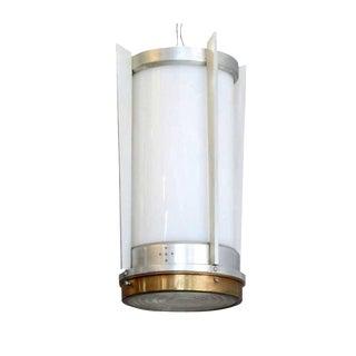 Mid-Century Aluminum Cylinder Hanging Lamp Circa 1960 For Sale