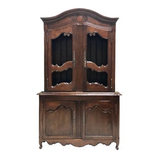 Vintage French Provincial Cabinet Cupboard Linen Press For Sale