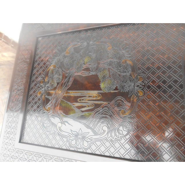 Wood John Widdicomb Chinoiserie Console Table For Sale - Image 7 of 13