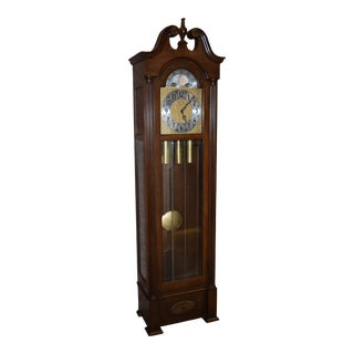 Vintage Herschede Traditional Style Grandfathers Clock For Sale