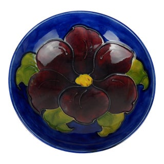 Moorcroft Clematis Bowl For Sale