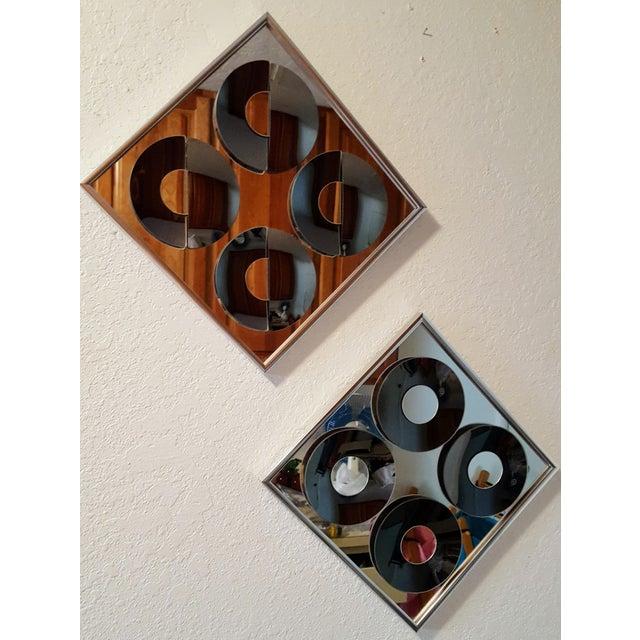 1970s Vintage Hal Bienenfeld Op Art Mirrors - a Pair - Image 2 of 8