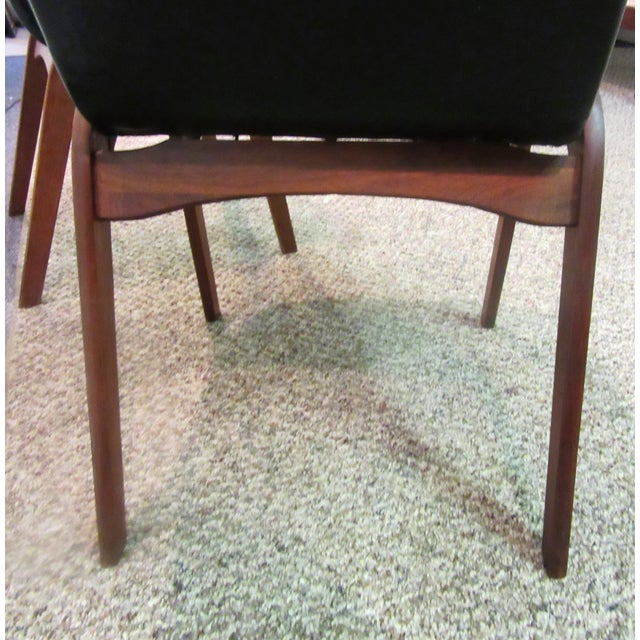 Mid-Century Danish Modern Teak Dining Chairs- A Pair - Image 4 of 10
